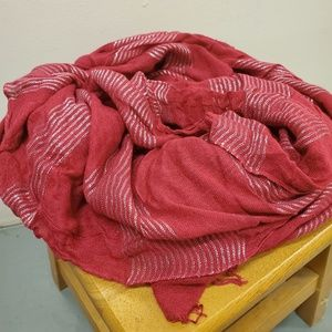 Red & Silver threading American Eagle Scarf